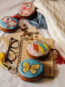Multi Colour Dream Catcher Hand Painted Coin Purse - By Simplicity
