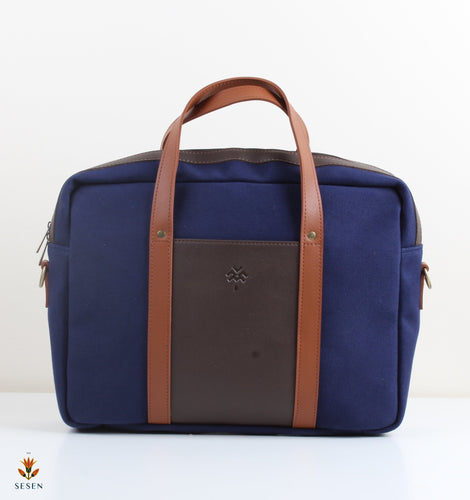 navy blue mens canvas backpack