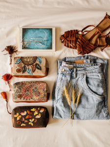 Dream Catcher Print Canvas Small Clutch - By Simplicity