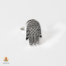 Load image into Gallery viewer, Sterling Silver Fatima Hand / Hamsa Ring
