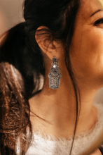 Load image into Gallery viewer, Sterling Silver Fatima Hand / Hamsa Earrings