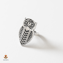 Load image into Gallery viewer, Sterling Silver Owl Ring
