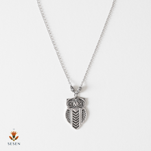 Load image into Gallery viewer, silver owl necklace