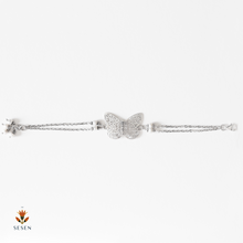 Load image into Gallery viewer, Sterling Silver Butterfly Cut Out Bracelet