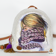 Load image into Gallery viewer, winter women print backpack