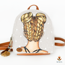Load image into Gallery viewer, braided hair backpack