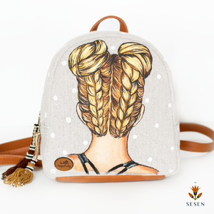 braided hair backpack