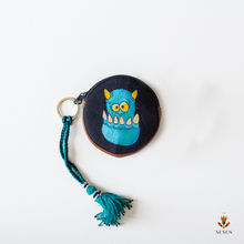 Load image into Gallery viewer, Blue Genie Hand Painted Zipper Coin Purse - By Simplicity