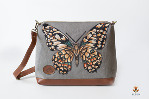 The Sesen - Canvas Large Butterfly Cross bags