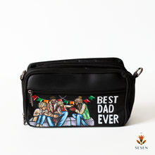 Load image into Gallery viewer, best dad print canvas pouch
