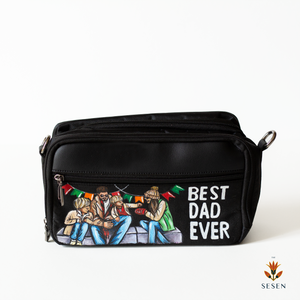 best dad print canvas pouch