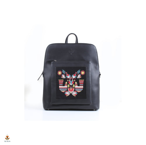 egyptian bird print laptop backpack