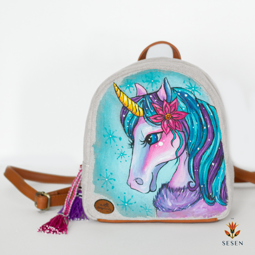 Canvas Unicorn Backpack