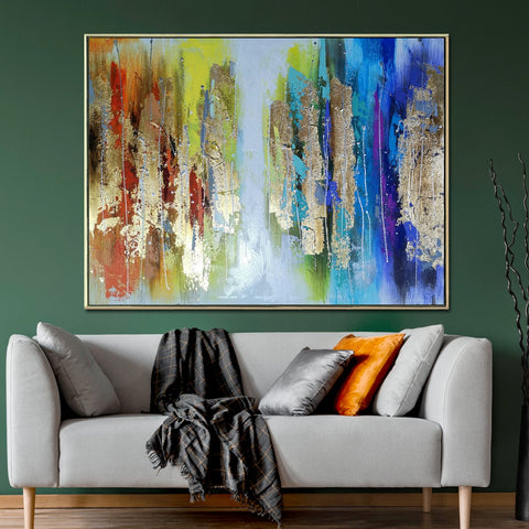 Its a Colourful World Abstract 100% Hand Painted Wall Painting