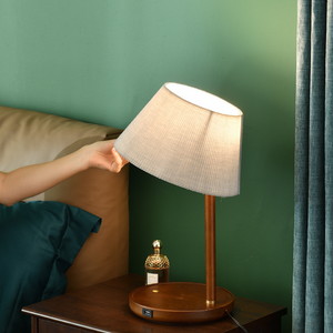 The Aristocrat Desk and Side Table Wireless Charging Lamp