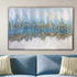 A Beautiful Abstract Melting Pot 100% Hand Painted Wall Painting (With Golden Outer Floater Frame frame)