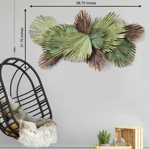 The Tropical Palm Branch Metal Wall Art Panel