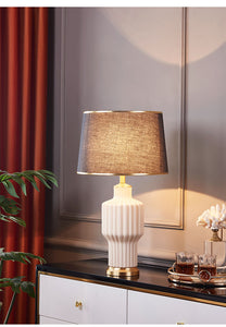 The White and Gold Trophy Decorative Table Lamp