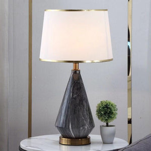 The Grey Quartz Marble Decorative Table Lamp