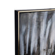 The Black Pearl Abstract Hand Painted Wall Painting (With Outer Golden Frame)