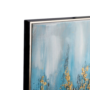 A Beautiful Abstract Melting Pot 100% Hand Painted Wall Painting (With Outer Wooden frame)