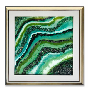 The Green Pearl River Shadow Box Wall Decoration Piece