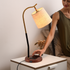 The Fish Hook Study and Side Table Wireless Charging Lamp