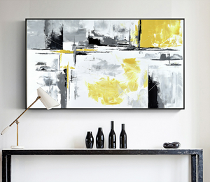 An Abstract Flow Framed Canvas Print