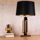 The Black and Gold Grand Stainless Steel Decorative Table Lamp