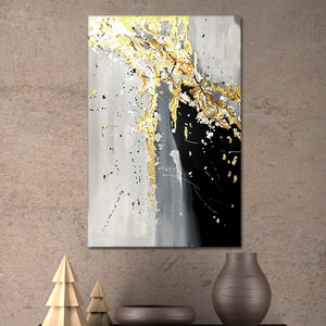 The Black Gold Framed Canvas Wall Art
