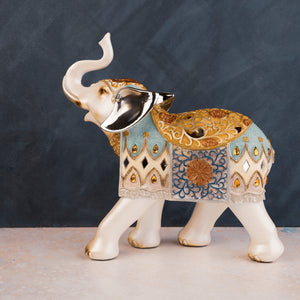 The Jaipur Royal Elephant Table Decoration Showpiece