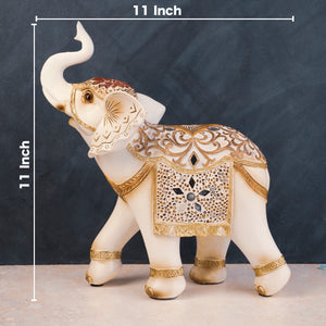 The Agra Royal Elephant Table Decoration Showpiece