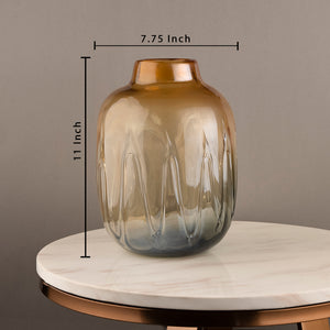 The Autumn Country Jar Handblown Glass Decorative Vase - Small