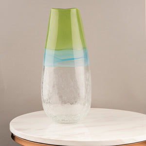 The Emerald Rainforest Handblown Glass Decorative Vase - Big