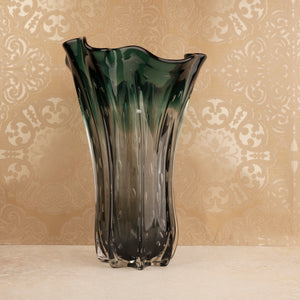 The Crystal Green Handblown Glass Decorative Vase