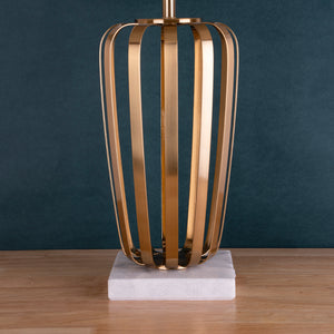 The Eclectic Marble Base Stainless Steel Decorative  Table Lamp
