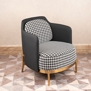 The Scottish Plaid Accent Lounge Chair & Ottoman Set