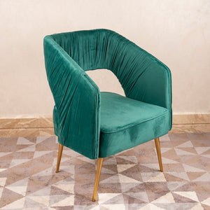 The Italian Pleated Accent lounge Chair