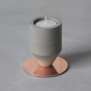 Rose Gold Base Decorative Candle Stand - Small