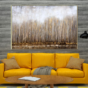Spread your roots 100% Hand Painted Wall Painting (With Outer Floater Frame)