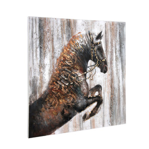 The Jumping Stallion 100% Hand Painted Wall Painting