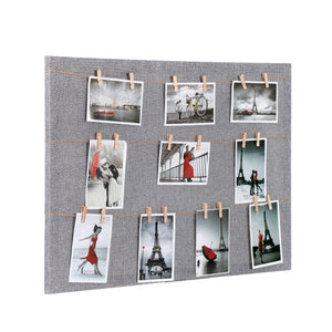 Wooden Pin Up Photo Frame with Mesh for Wall Decor