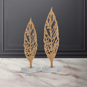 The Golden Hackberry Table Decoration Showpiece - Set of 2