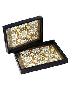 The Marbella Diamond Decorative Serving Tray