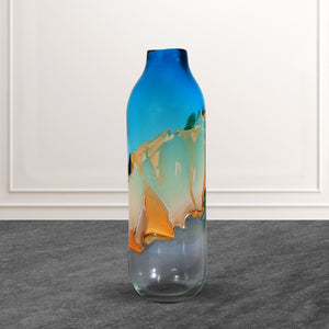 The Abstract Urn Handblown Glass Decorative Vase - Big