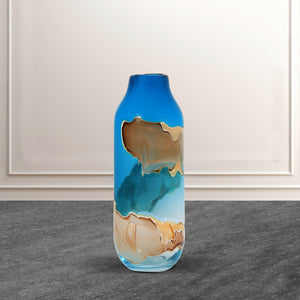 The Abstract Urn Handblown Glass Decorative Vase - Small