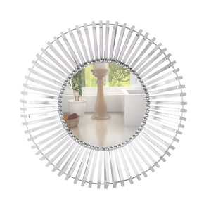 The Nickel Plated Groove Edge Decorative Wall Mirror