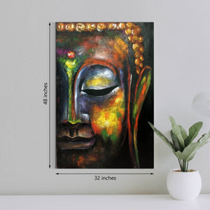 Buddha in Bliss 100% Hand Painted Wall Painting