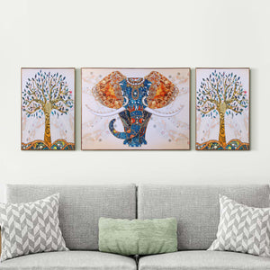 The Udaipur Elephant Framed Canvas Print