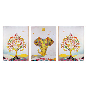 The Jaipur Elephant Framed Canvas Print